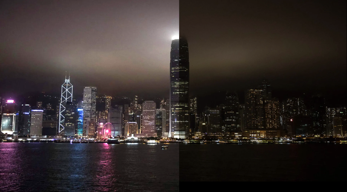 earth hour before after2